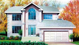 Traditional House Plan 49202 with 4 Beds, 3 Baths, 2 Car Garage Elevation