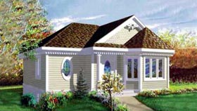 Craftsman House Plan 49204 with 1 Beds, 1 Baths Elevation