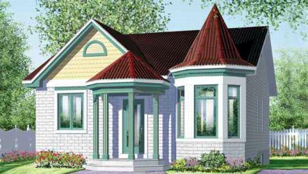 Victorian House Plan 49207 Elevation
