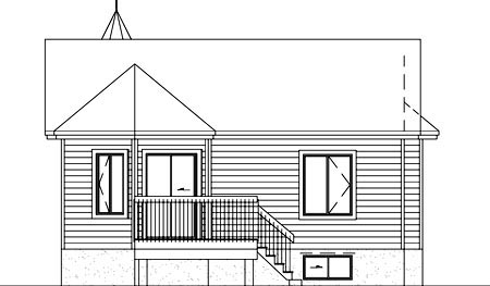 Victorian House Plan 49207 Rear Elevation