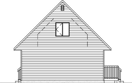 Narrow Lot Rear Elevation of Plan 49208