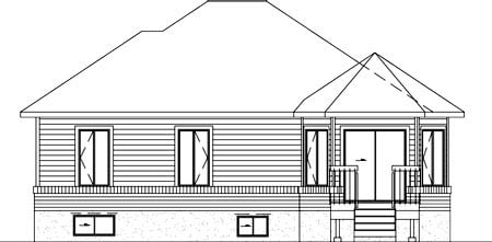 Contemporary House Plan 49210 Rear Elevation