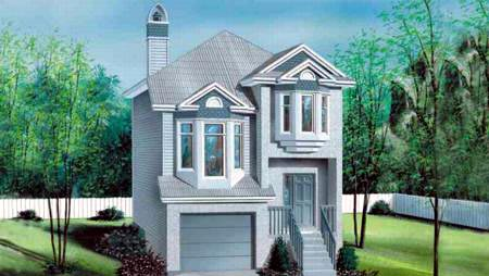 House Plan 49212 | Style Plan with 1316 Sq Ft, 2 Bedrooms, 2 Bathrooms, 1 Car Garage Elevation
