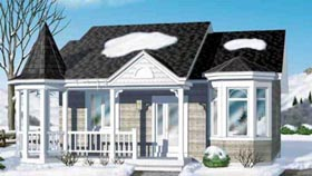 Victorian House Plan 49213 Elevation
