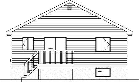 Contemporary House Plan 49216 Rear Elevation