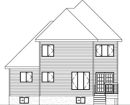 Tudor House Plan 49217 Rear Elevation