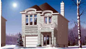 House Plan 49218 with 3 Beds, 2 Baths, 1 Car Garage Elevation