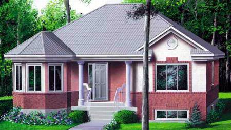 Victorian House Plan 49221 with 2 Beds, 1 Baths Elevation