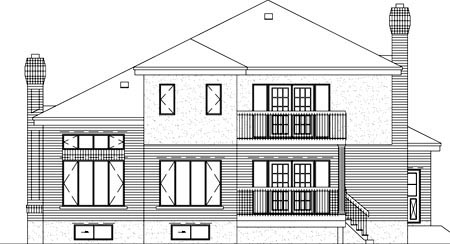 Contemporary House Plan 49225 Rear Elevation