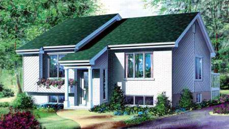 Contemporary House Plan 49230 Elevation
