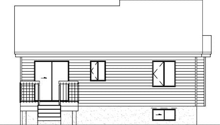 Contemporary House Plan 49230 Rear Elevation