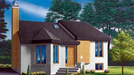 Contemporary House Plan 49231 Elevation