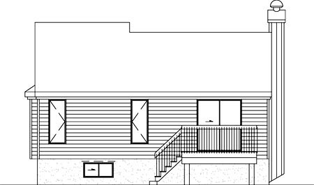 Contemporary House Plan 49231 Rear Elevation