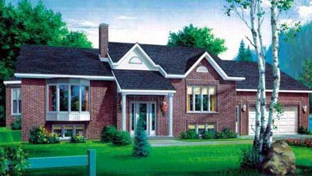 House Plan 49232 | Traditional Style Plan with 1316 Sq Ft, 2 Bedrooms, 1 Bathrooms, 1 Car Garage Elevation