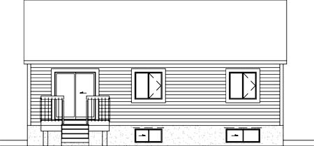 House Plan 49233 Rear Elevation