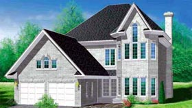 Victorian House Plan 49235 with 4 Beds, 3 Baths, 2 Car Garage Elevation