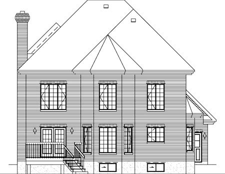 Victorian House Plan 49235 Rear Elevation