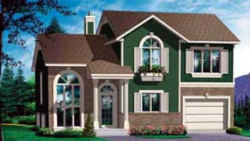House Plan 49236 | Craftsman Style Plan with 1627 Sq Ft, 4 Bedrooms, 2 Bathrooms, 1 Car Garage Elevation