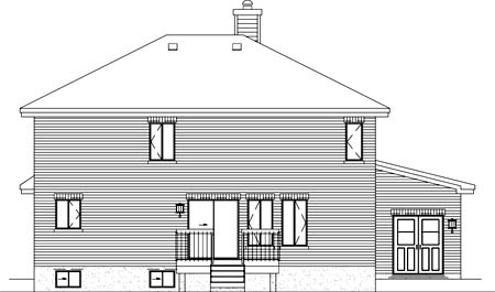 Traditional House Plan 49237 Rear Elevation