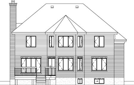 Victorian House Plan 49240 Rear Elevation