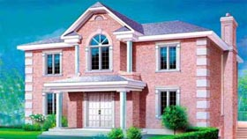 Colonial House Plan 49243 Elevation