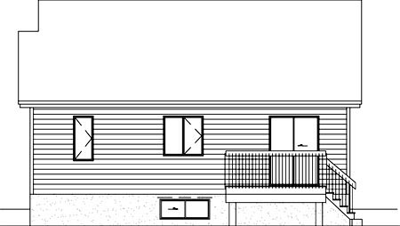 Ranch House Plan 49245 Rear Elevation