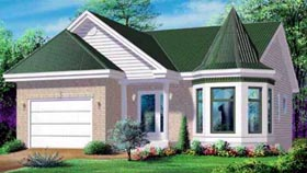 House Plan 49246 | Victorian Style Plan with 1056 Sq Ft, 2 Bedrooms, 1 Bathrooms, 1 Car Garage Elevation