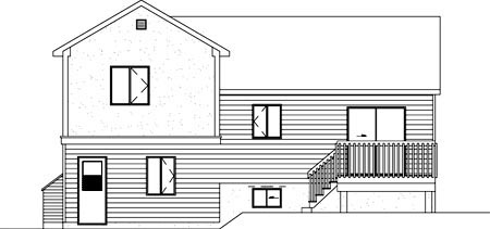Colonial House Plan 49248 Rear Elevation