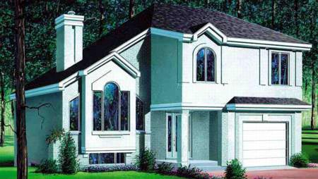 House Plan 49250 | European Style House Plan with 1937 Sq Ft, 3 Bed, 2 Bath, 1 Car Garage Elevation