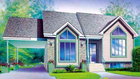 Contemporary House Plan 49251 Elevation