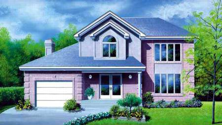 Contemporary Elevation of Plan 49254