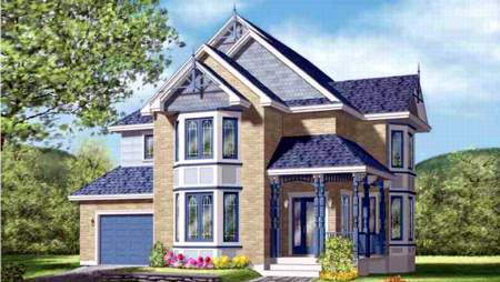 Craftsman House Plan 49256 with 4 Beds, 4 Baths, 1 Car Garage Elevation