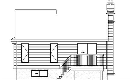 Craftsman House Plan 49257 Rear Elevation