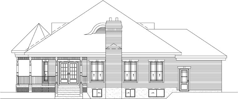 Victorian House Plan 49258 Rear Elevation
