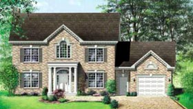 Colonial House Plan 49259 Elevation