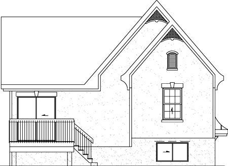 House Plan 49260 Rear Elevation