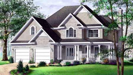Tudor , Elevation of Plan 49261