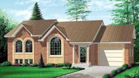 European House Plan 49266 Elevation