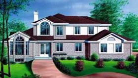 European House Plan 49267 Elevation