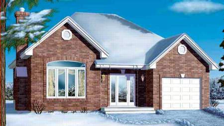 European House Plan 49268 Elevation