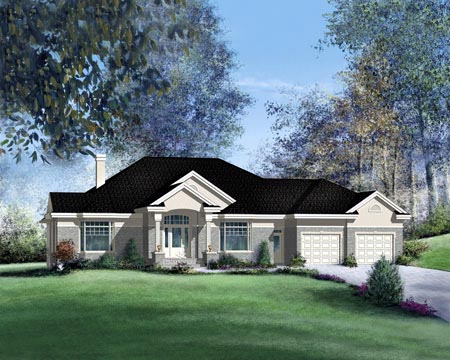 House Plan 49269 Elevation
