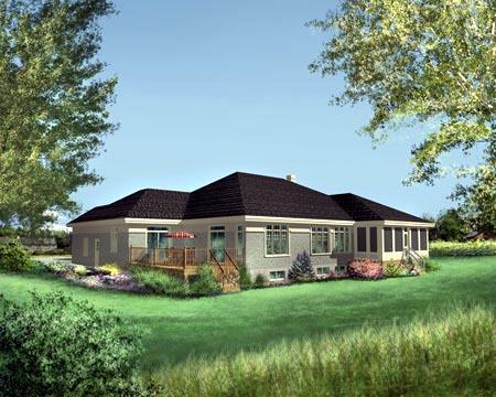House Plan 49269 Rear Elevation
