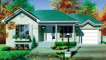 Contemporary House Plan 49273 Elevation