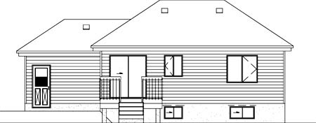 Contemporary House Plan 49273 Rear Elevation