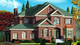 Tudor House Plan 49278 with 4 Beds, 5 Baths, 2 Car Garage Elevation