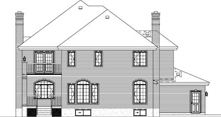 Tudor House Plan 49278 Rear Elevation