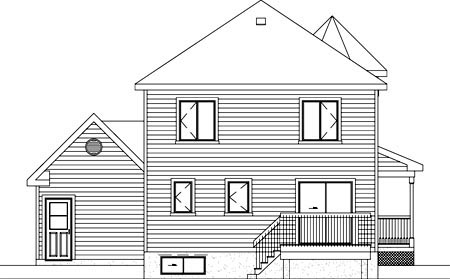 Victorian House Plan 49279 Rear Elevation