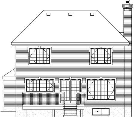 Victorian House Plan 49280 Rear Elevation