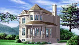 Victorian House Plan 49282 Elevation