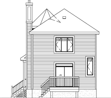 Victorian House Plan 49282 Rear Elevation